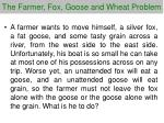 the farmer fox g oose and wheat problem