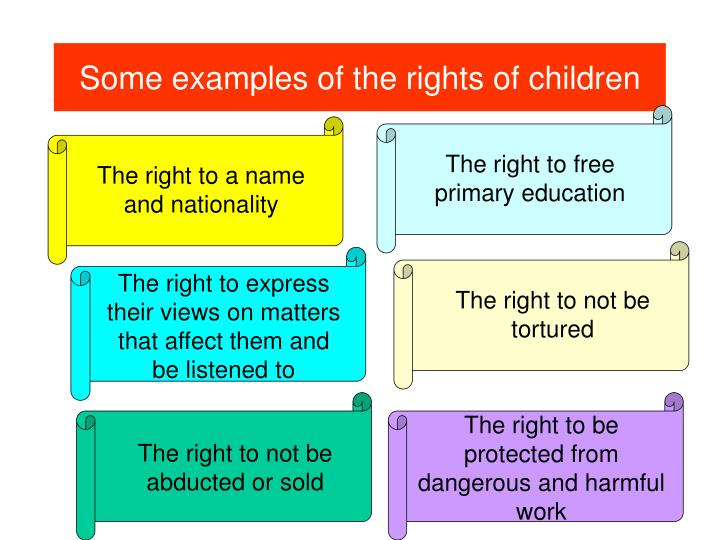 Some examples of the rights of children