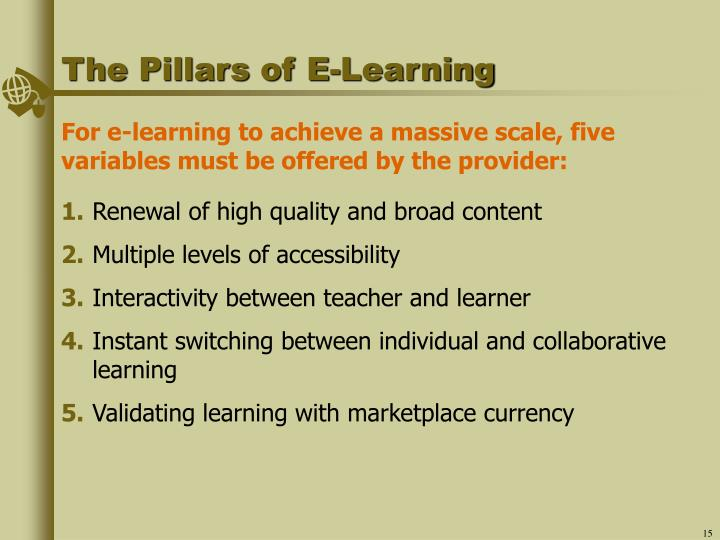 The Pillars of E-Learning