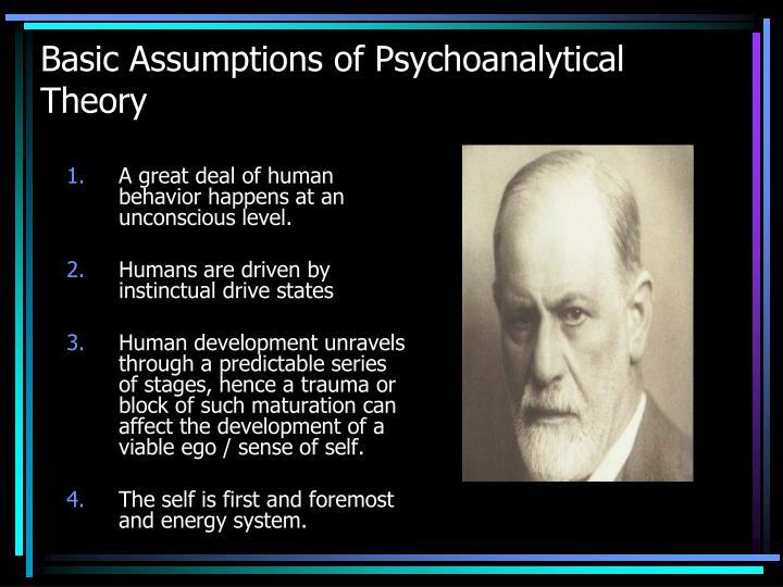 Basic assumptions of psychoanalytical theory
