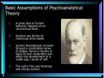 basic assumptions of psychoanalytical theory
