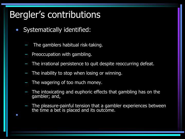 Bergler's contributions
