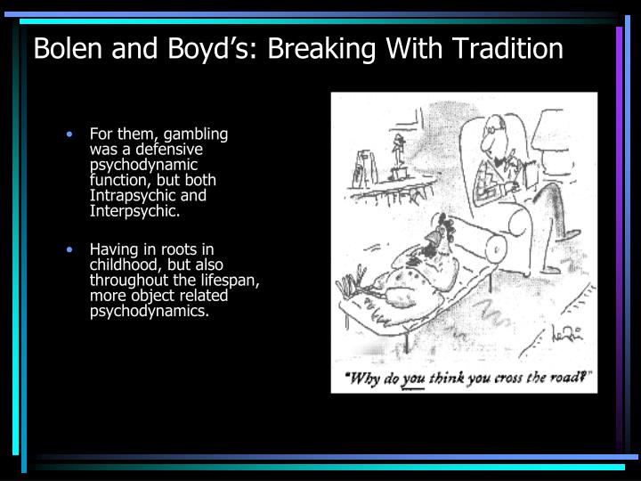 Bolen and Boyd's: Breaking With Tradition