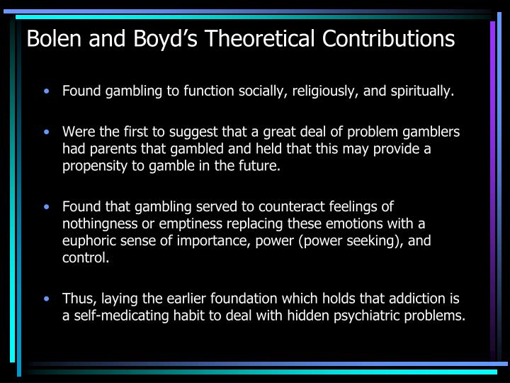 Bolen and Boyd's Theoretical Contributions