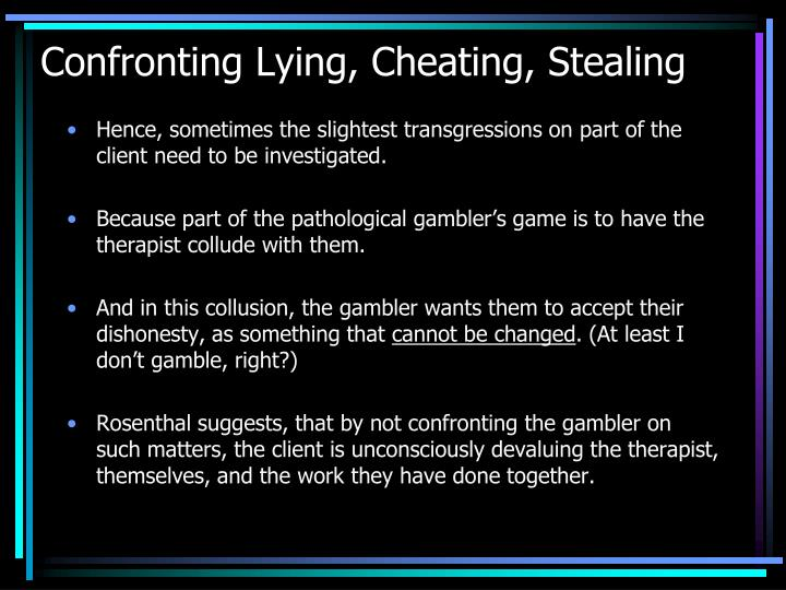 Confronting Lying, Cheating, Stealing