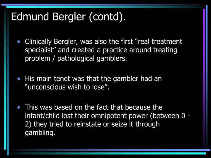 Edmund Bergler (contd).