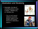 idealization and devaluing