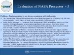 evaluation of nasa processes 3