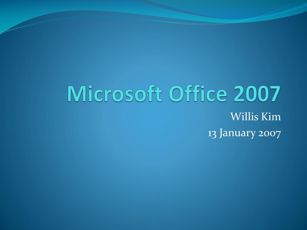microsoft office 2007 l.