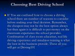 choosing best driving school