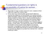 fundamental questions on rights accessibility of justice for women