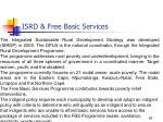 isrd free basic services