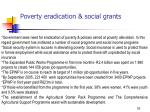 poverty eradication social grants