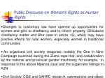 public discourse on women s rights as human rights