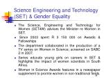 science engineering and technology set gender equality
