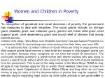 women and children in poverty