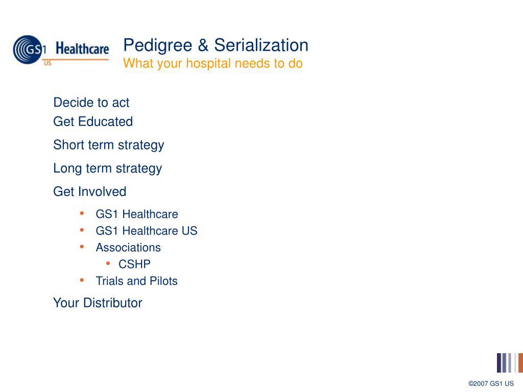 Pedigree & Serialization