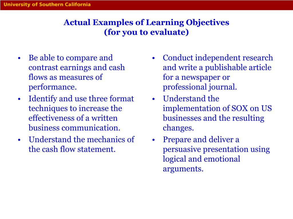 Be able to compare and contrast earnings and cash flows as measures of performance.