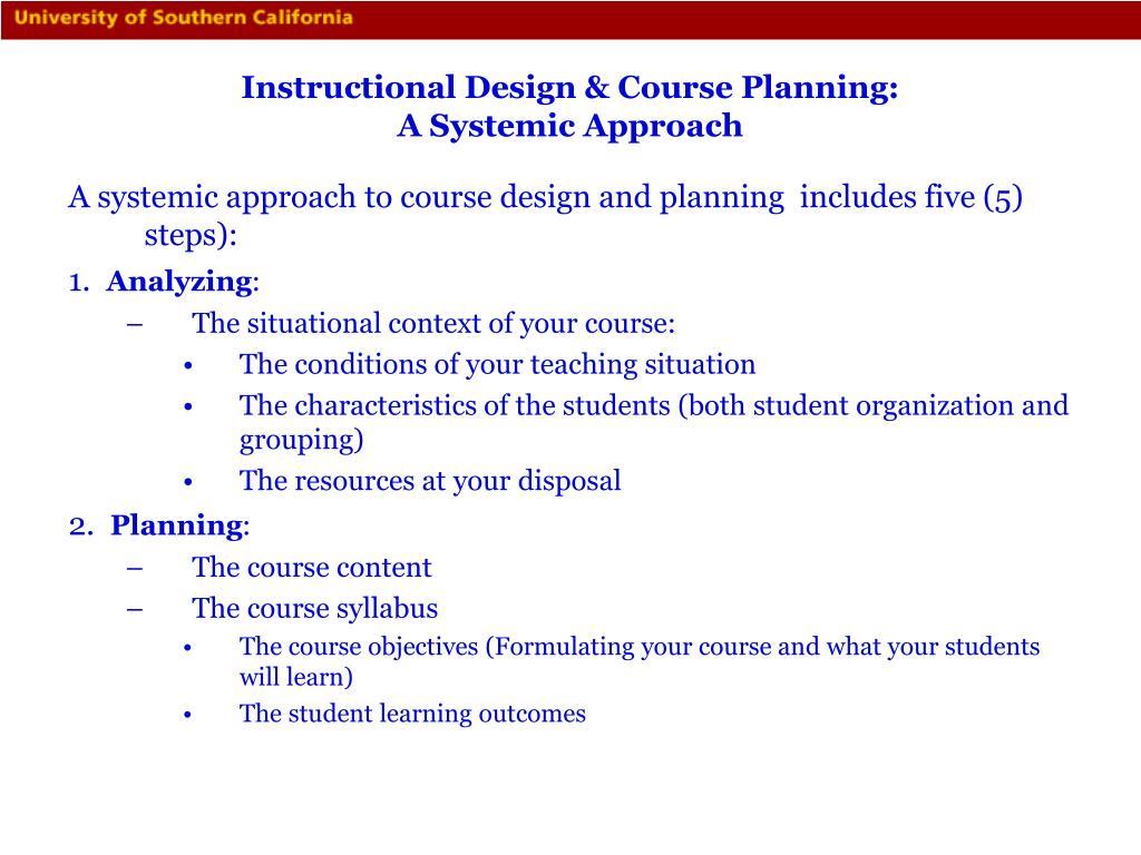 Instructional Design & Course Planning: