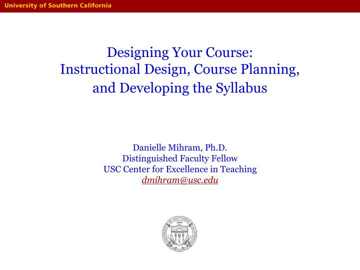Designing Your Course: