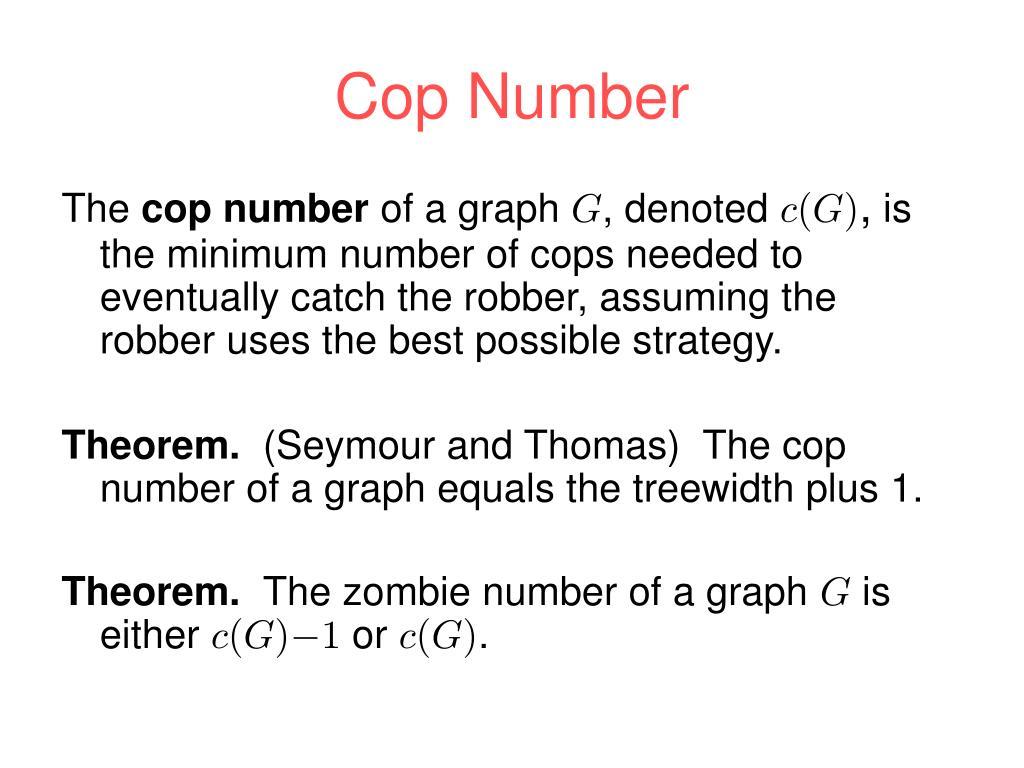 Cop Number