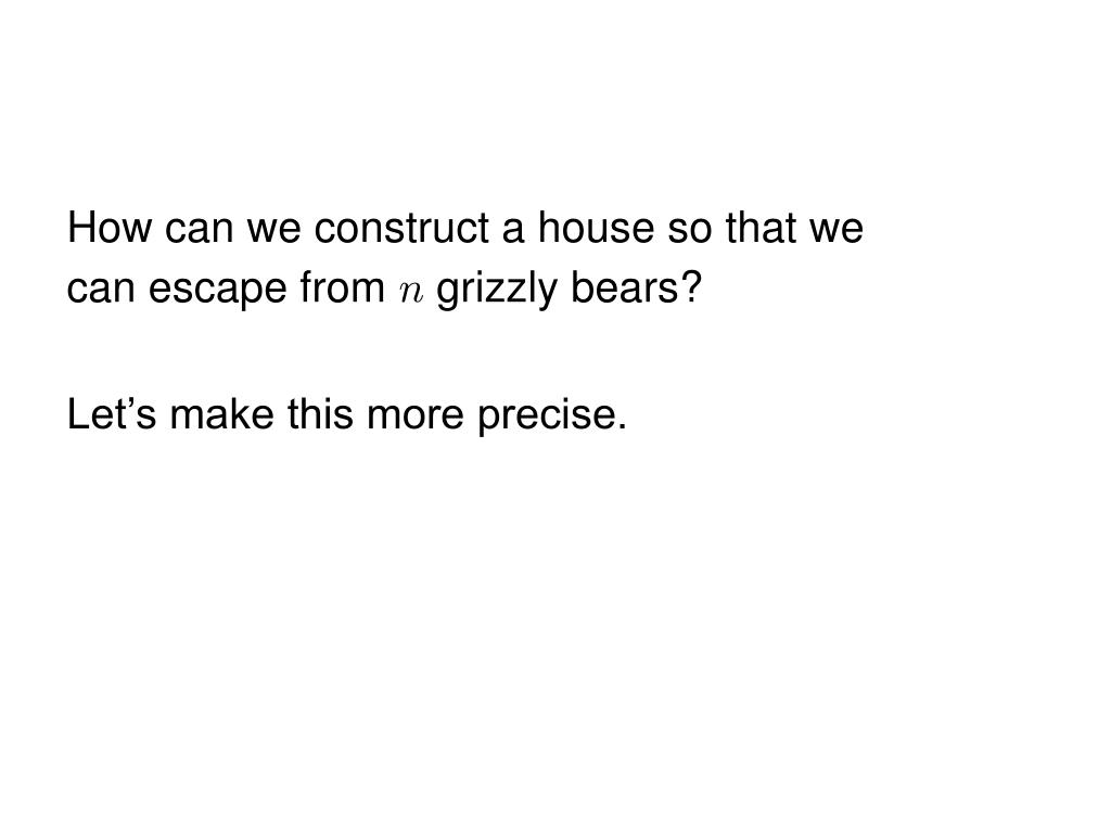 How can we construct a house so that we