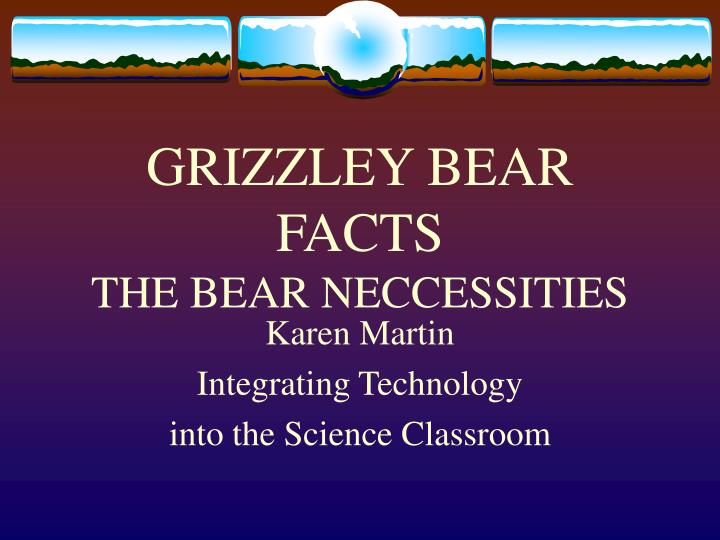 grizzley bear facts the bear neccessities n.
