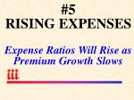 5 rising expenses expense ratios will rise as premium growth slows