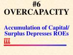 6 overcapacity accumulation of capital surplus depresses roes