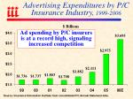 advertising expenditures by p c insurance industry 1999 2006