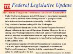 federal legislative update95
