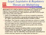 legal legislative regulatory threats are multiplying90