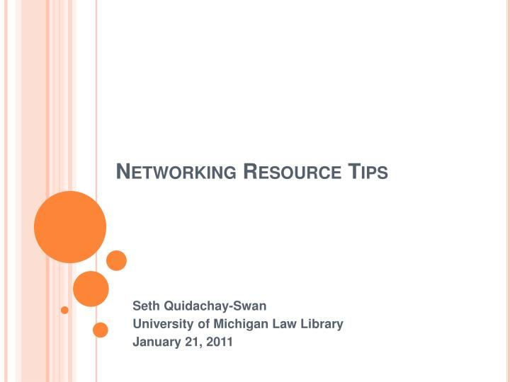 networking resource tips n.