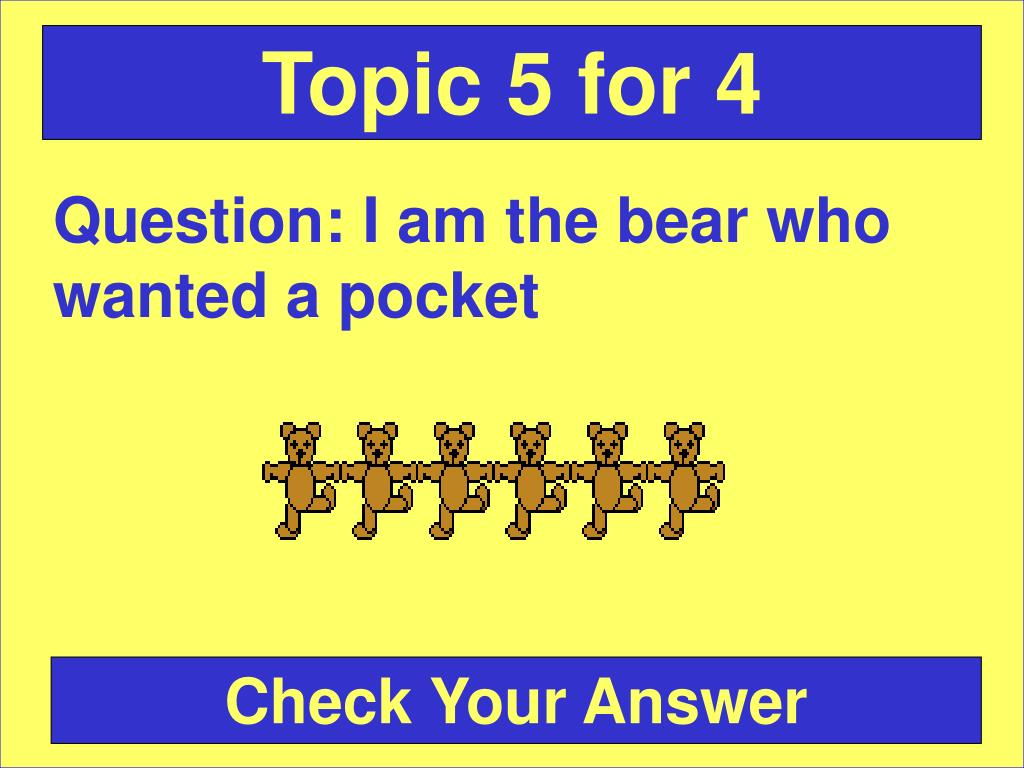 Topic 5 for 4