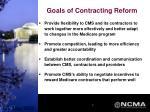 goals of contracting reform