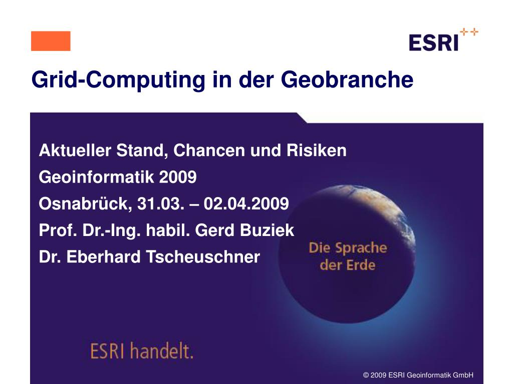 grid computing in der geobranche l.