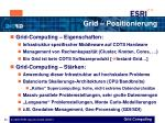 grid positionierung
