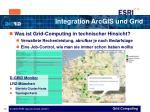integration arcgis und grid12