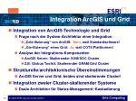 integration arcgis und grid13