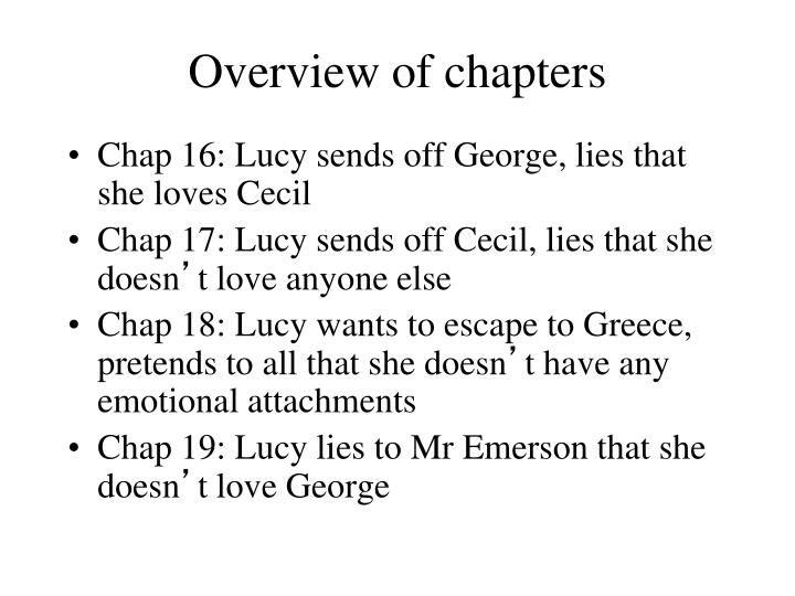 Overview of chapters