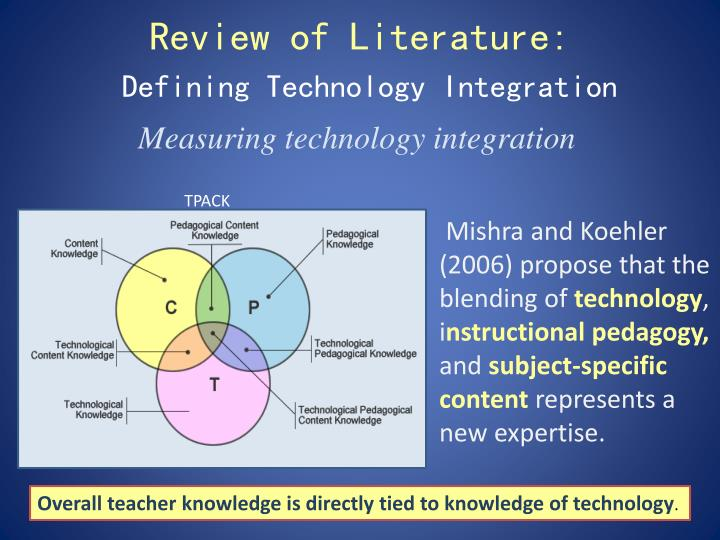 literature review on technology integration