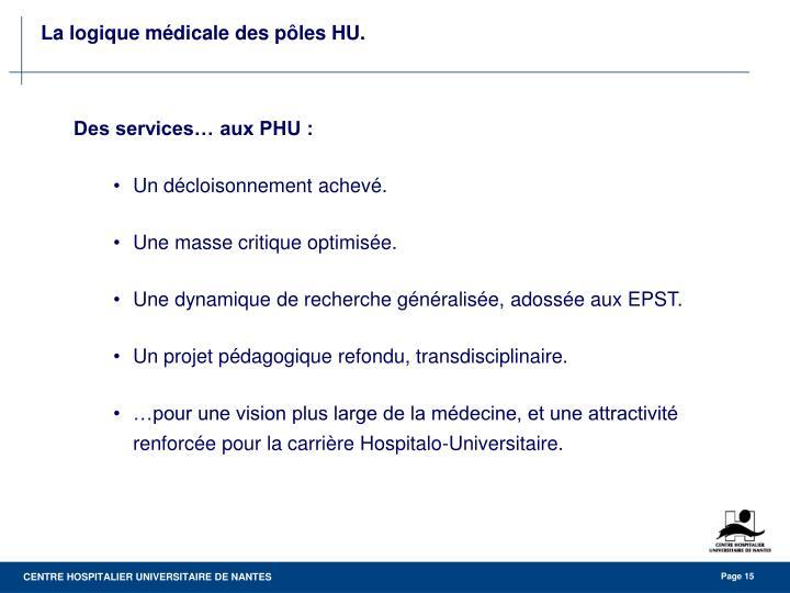 Des services… aux PHU :