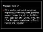 migrant nation