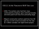 s e l i the vancouver rav line case