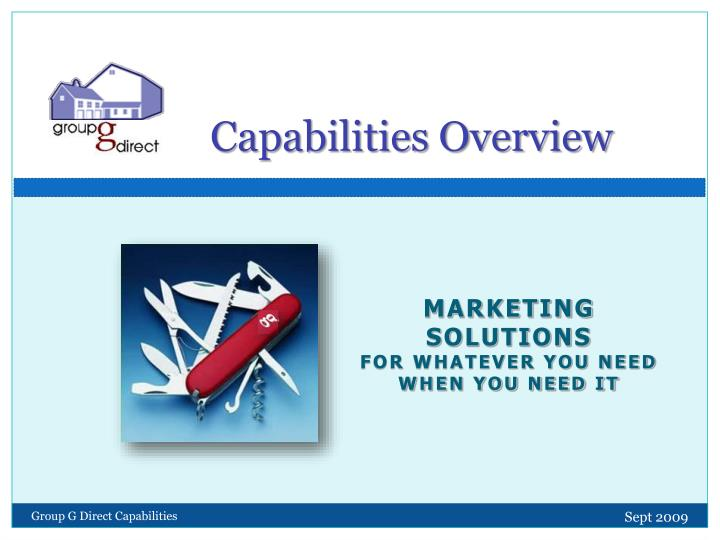 capabilities overview n.
