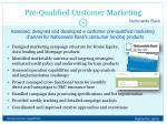 pre qualified customer marketing