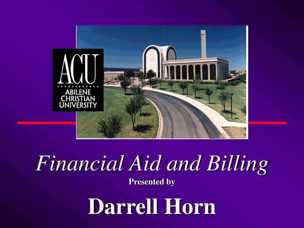 financial aid and billing l.