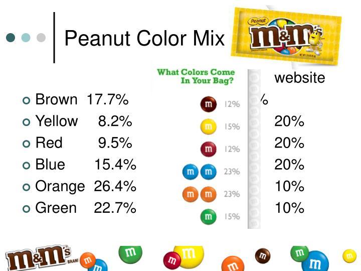 Peanut Color Mix