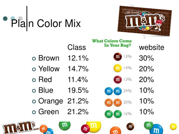 Plain Color Mix