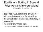 equilibrium bidding in second price auction interpretations